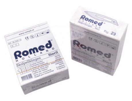 Scalpelmesjes Romed, steriel nr.23, zonder heft