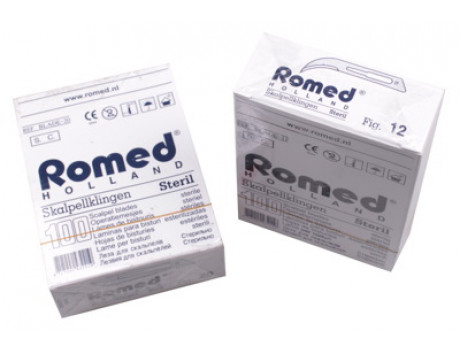 Scalpelmesjes Romed, steriel nr.12, zonder heft