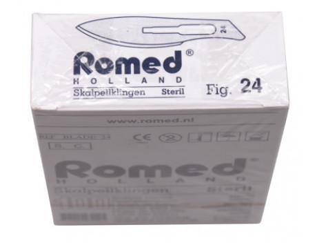 Scalpelmesjes Romed, steriel nr.24, zonder heft