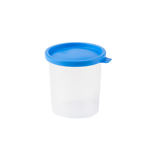 Urinebekers 125 ml met blauwe klemdeksel
