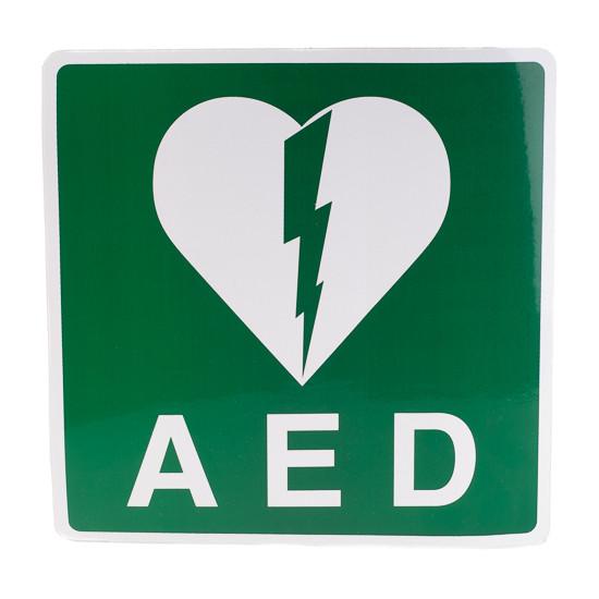 AED pictogram sticker 20 x 20 cm