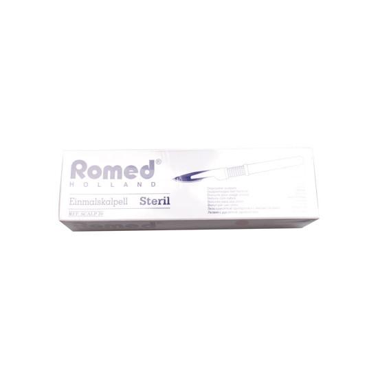 Scalpelmesjes Romed, steriel nr.20, zonder heft