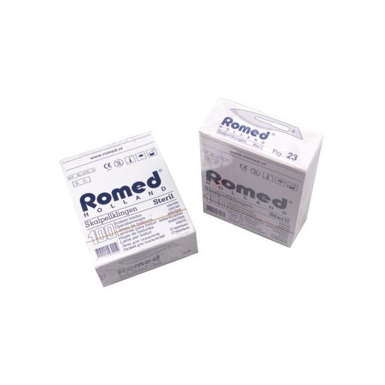 Scalpelmesjes Romed, steriel nr.22, zonder heft