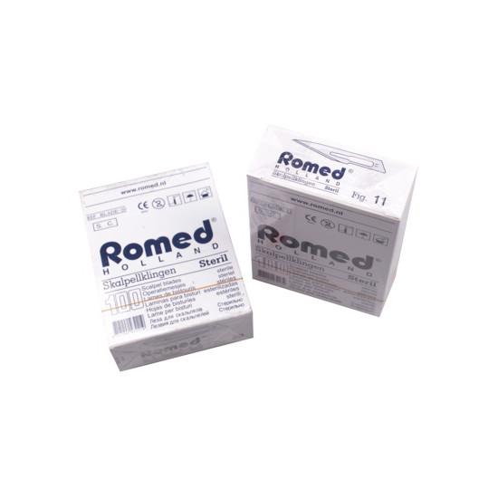 Scalpelmesjes Romed, steriel nr.11, zonder heft