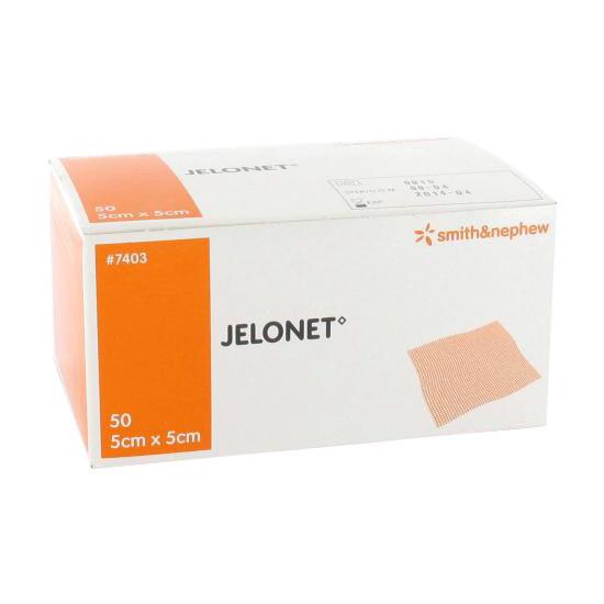 JELONET ZALFKOMPRES PARAFFINE 5X5CM 7403 STERIEL