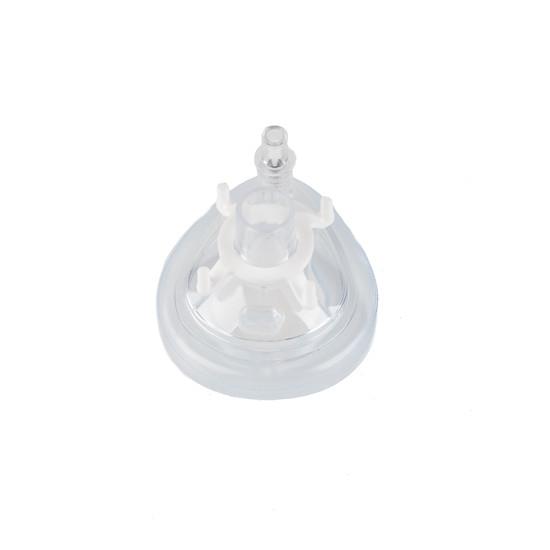 Beademingsmasker met kussenrand + ventiel, nr. 0 baby