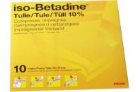 Betadine uad zalfgazen 10st 10x10cm be156615