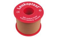 Leukoplast hechtpleister textiel met ring 9.2mx5cm huidskleur 1539