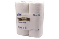 Tork keukenrol extra absorbent 2 laags 15mx23cm verpakt 12x2 rollen wit 120269