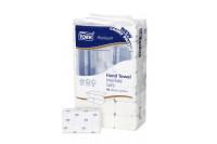 Tork xpress papieren handdoek soft premium 2 laags intergevouwen26x21cm h2 wit 100289