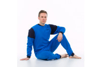 4care hansop m tricot zonder voet met rugritssluiting en rits in het kruis blauw 1011.251.m