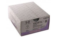 Ethicon hechtdraad vicryl m1 usp5-0 single armed fs-2 45cm violet v391h steriel