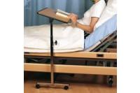 Servocomfort werkblad bed staal frame met vier wielen, kantelbaar tot 90 graden 60,5 x 38,5 x cm