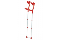 Armkruk aluminium 75-98cm belastbaar tot 130kg rood meg 961993