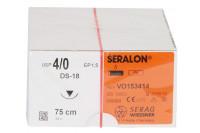 Serag wiessner hechtdraad seralon usp4-0 ds-18 75cm blauw vo153414 steriel