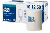 Tork poetsrol wiping paper plus centerfeed 2 laags 160mx24,5cm m2 wit 101250