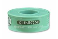 Klinion kliniplast silk hechtpleister kunstzijde met ring 5 m x 2.50 cm ref 294181