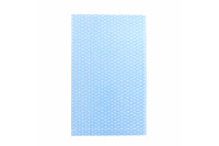 Klinion personal care washing glove plastified 50 g/m airlaid paper with 18 g/m blue pe layer 23 x 15 cm white glued ref 100504