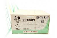 Ethicon ethilon ii hechtdraad 4-0 fs2 75cm zwart eh7143bh steriel