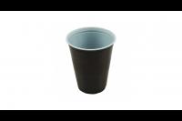 Koffiebeker/automaatbeker plastic 180ml bruin/wit 98