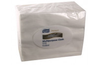Tork werkdoek cleaning cloth small pack 32x38,5cm 55 vellen w8 wit 510150