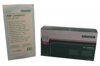 Klinion nonwoven kompres 10x20cm 4 lagen 25x2st 175041 steriel