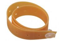 Alsatom electrodeband elastieken fixatieband met knop geel ffe   stud