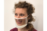 Clearmask gezichtsmasker 19x11x1,8cm transparant cm001ez