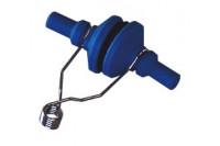 Neusklem herbruikbaar metalen veer blauw 112571
