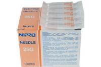 Nipro injectienaald 25g 16x0.50mm oranje hn2516et steriel