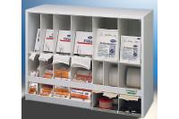Haeberle dispenser voor verband 19 vakken wandmontage wit 22x60x45cm 04878
