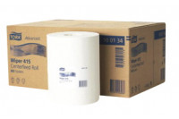 Tork poetsrol wiping paper centerfeed 1 laags 165mx19,5cm m2 wit 130034