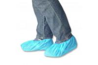 Klinion protection schoenovertrek cpe embossed 100 st 36x15cm blauw 522610