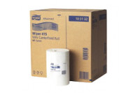 Tork poetsrol mini wiping paper centerfeed 1-laags 120mx21,5cm m1 wit 100130