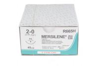 Ethicon hechtdraad mersilene m3 usp2-0 single armed fs 45cm wit r665h steriel