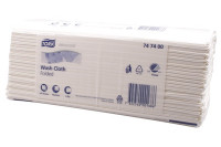 Tork wasdoek gevouwen advanced 4 laags h3 wit 747400