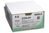 Ethicon ethilon hechtdraad m1.5 usp4-0 45cm single armed fs-2s zwart 662slh steriel