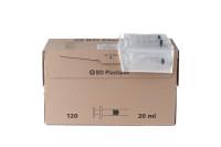 Bd injectiespuit plastipak 3-delig excentrisch luer 20ml 300613 steriel