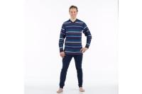 4care dessin hansop s heren jersey zonder voet met rugritssluiting  blauw 1090.201.s