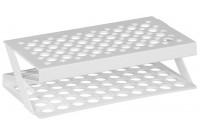 Centrifugebuisstandaard voor 50 buizen 17mm diameter wit 22,5x11,4x 6cm b3 184082